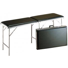Table de massage pliante Carina Noir en aluminium