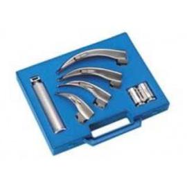 Coffret de laryngoscopie avec dispositif en acier, à lumière conventionnelle