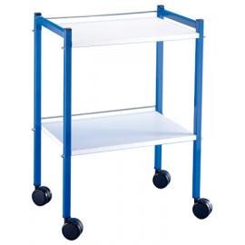 *Guéridon finition expoxy bleu 2 plateaux plats (84 x 40 x 60 cm) (Déstockage - ni repris / ni échangé)