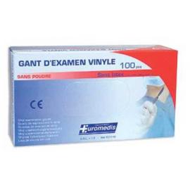 Gants d´examen vinyle non stériles poudrés (Boîte de 100)