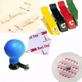 Electrodes pour Electrocardiographe ECG Usage Unique/Réutilisable