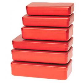 Boite de stérilisation en aluminium pour instruments - Coloris Rouge