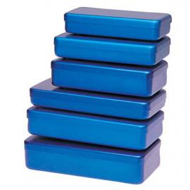 Boite de stérilisation en aluminium pour instruments - Coloris Bleu