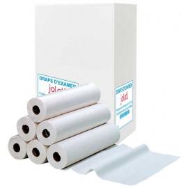 Pack de 10 cartons de draps d'examen Ouate blanc Joleti Supérieur (10 x 9 rouleaux)