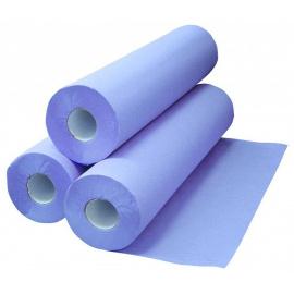 Pack de 5 cartons de draps d'examen plastifiés bleu (5 x 6 rouleaux)