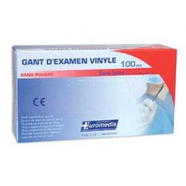 Gants d´examen vinyle non stériles non poudrés (Boîte de 100)