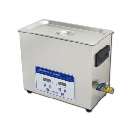 *Bac à ultrasons Digital et vanne de vidange - 4.5 Litres (Déstockage - ni repris / ni échangé)