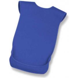Serviette bavoir de protection pour adulte en néoprène coloris bleu