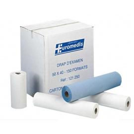 Pack de 5 cartons de draps d'examen Ouate blanc Super ECO Euromedis (5 x 12 rouleaux)