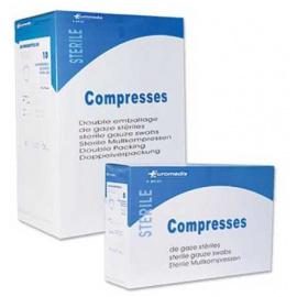 Compresses de gaze stériles 7.5 x 7.5 cm, sachet de 2 (boîte de 40)
