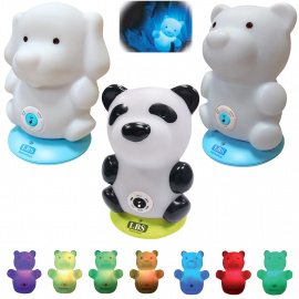 Veilleuse musicale multicolore rechargeable LBS BabyZoo