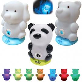 *Veilleuse musicale multicolore rechargeable LBS BabyZoo (Déstockage - ni repris / ni échangé)