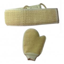 Bande ou gant de crin végétal exfoliant