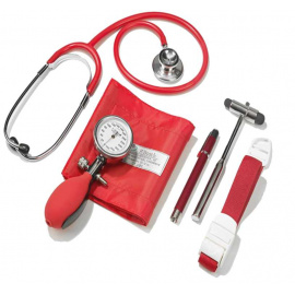 Set Diagnostic complet (tensiometre, stethoscope, marteau de Buck, garrot, lampe-stylo)