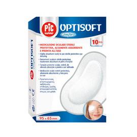 Compresses oculaires stériles Optisoft 9.5 x 6.5 cm (Boite de 10)