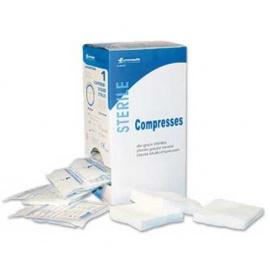 Compresses non tissées stériles 7.5 x 7.5 cm, sachet de 2 (boite de 50)