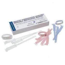 Bracelets Identifications Bébé Rose (Boîte de 100)