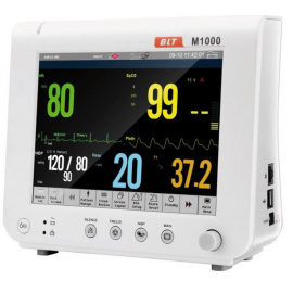 Moniteur de surveillance des signes vitaux M1000 (PNI, SpO2, RESP, T,ECG)