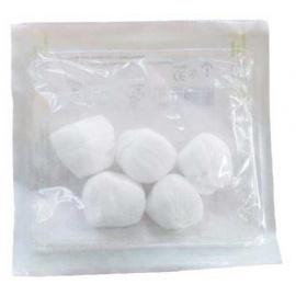 Lot de 10 sachets de 5 tampons de gaze non tissés ronds 20 x 20 cm