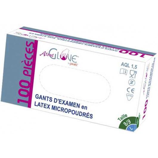 Gants d´examens latex non stériles poudrés (Boîte