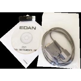 Logiciel PC et câble PC pour oxymètre de pouls Edan H100B