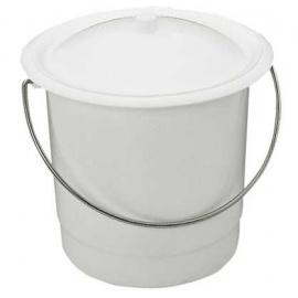 Seau hygiénique en plastique blanc