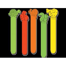 Abaisse-langue colorés en plastique (boite de 50)