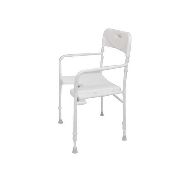 chaise de douche pliable tobago mat riel m dical. Black Bedroom Furniture Sets. Home Design Ideas
